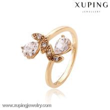 12567-nouvelle conception dames bague en or, bijoux en gros Chine fleur bague, guangzhou bijoux bague de mode