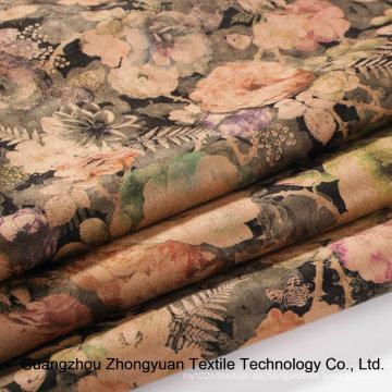 Fashion Printing Suede Stoffe für Kleidungsstück