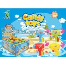 water & bubble gun candy toys