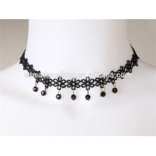 Plus vendu design sexy tissu de dentelle mixte collier de treillis noir