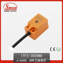 Interruptor de Proximidade Indutivo 6-36VDC Três-Fios DC NPN Sensor Normalmente Aberto com 5mm de Distância de Detecção