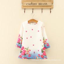 Mulher de três quartos comprimento floral moda vestido projeta crianças festa de aniversário das mulheres roupas de alta classe