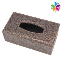 Fashion Design Leather Tissue Box (ZJH075)