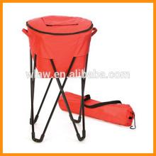 Suporte de banheira portátil com pés de metal e cobertura 100% poliéster