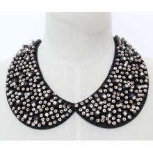 Mulher moda bijuterias colar de pérolas colar de cristal (je0143)