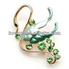 Moda cisne design cristal broche jóias bouquet