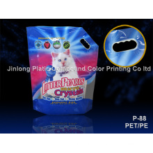 Stand up with Handling Hole Cat Litter Bag
