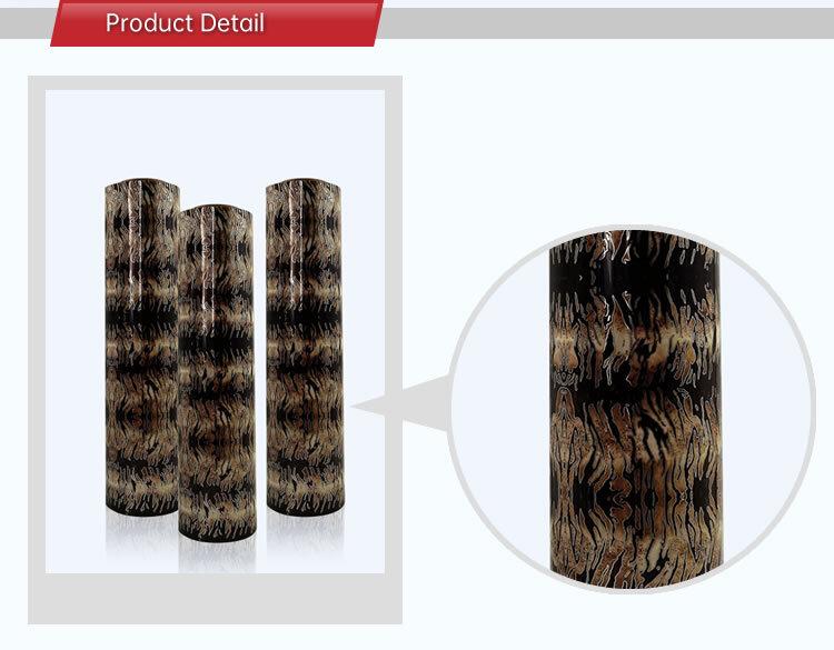 Angelacrox Wholesale Textile Fabrics HTV Tiger Print Heat Transfer PU Vinyl for Tshirt Customizable