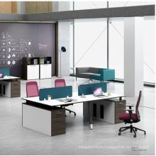 4 Person Cubical Desk Modern Design Office Furniture Workstation