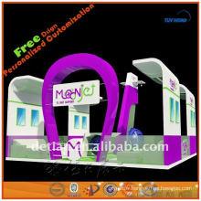 Construction faite sur commande de stand d'exposition, stand portatif d'exposition avec le cadre en aluminium de conception d'exposition