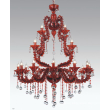 Fancy Red Glass Hanging Lamp (90021-12+4+4)
