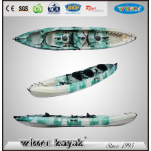 3 Paddlers (Max) and No Inflatable PE Material Hull Kayak