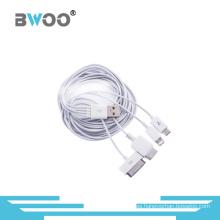 Cable de datos y carga USB Universal 4-en-1 para teléfonos móviles