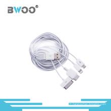 Câble de chargement et de données USB 4-en-1 universel pour téléphone mobile