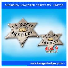 3D Metal Sheriff Badge (LZY-000099)