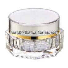 Tarro de crema transparente de acrílico