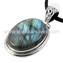 Colgante de plata hermosa de la piedra preciosa del labradorite 925 joyería esterlina de la joyería de la plata al por mayor