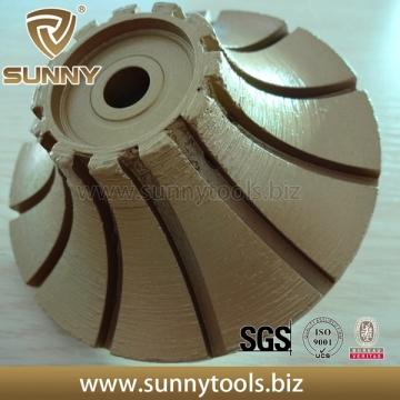 Sunny Vacuum Brazed Diamond Profile Wheel Full Bull Nose Shape