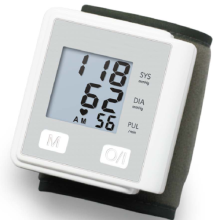 Electric wrist blood pressure monitor for pharmacy