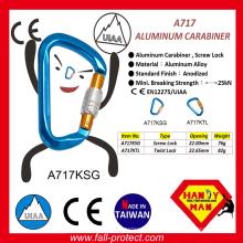 25KN Breaking Stärke Taiwan Rock Aluminium Karabiner für Wild Sport