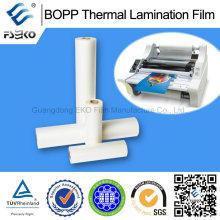 Brillante y mate BOPP película de laminación térmica para bolsas de papel de publicidad
