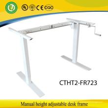 2 ноги сидеть, стоять ручной эргономичный регулируемый по высоте ручной подъем стола рамкой