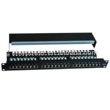 1U instalação de 19 polegadas + usado para armários de rede e telecomunicações FTP Cat 5e 24 portas