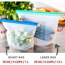 Sachets alimentaires en silicone écologique avec fermeture zippée