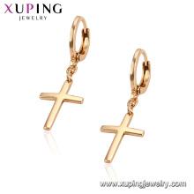 95859 Xuping Jewelry 18K chapado en oro pendiente cruzado con aleación de cobre