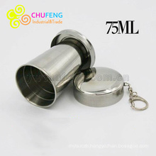 Wholesale stainless steel Chalice telescopic outdoor folding cup 304 folding cup