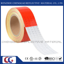Red and White Honeycomb Type PVC Reflective Safety Tape (C3500-B(D))