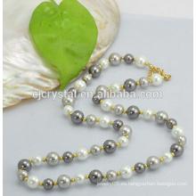 Cuentas de perlas de cristal para pulsera, cuentas de perlas de vidrio shinning, cuentas de perlas de vidrio