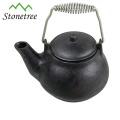 Hot Sale Wholesale Chinese Red Enamel Coating Cast Iron Tea Pot