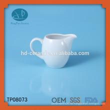 Weißes keramisches kaffee cremeglas, meistgekaufte produkte kundenspezifisches weißes keramisches milchglas