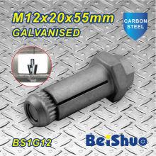 M12X20X55mm alta qualidade zinco parafuso de fixação para a construção