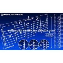 Courroie de transport de maille de fil de Flex d'acier inoxydable