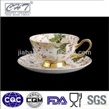 Gute Qualität Porzellan benutzerdefinierte gedruckte Teetassen gesetzt