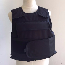 Black lightweight Kevlar concealed military tactical bullet proof vest