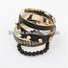 Pulseiras de couro pulseira pulseira braceletes pulseira encantos