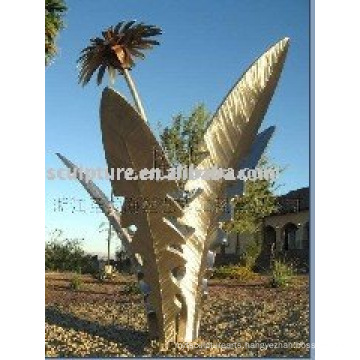 stainless steel modern outdoor tree sculpture