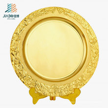 O logotipo 25cm do OEM personaliza a placa de metal do presente do ouro com o suporte para a lembrança