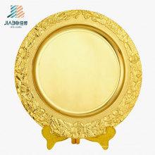 OEM логотип 25см подгоняет Золотой подарок металлическая пластина с держателем для сувенира