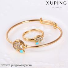 61117- Xuping Fine Jewelry Brazalete de latón y anillos para bebés
