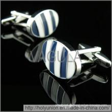 VAGULA Manschettenknöpfe Luxus blauen Streifen Manschettenknöpfe (Hlk31733)