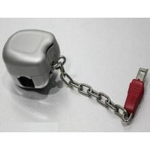 Venda quente personalizado zinco moeda fechaduras para carrinhos de supermercado JS-TAL01