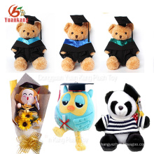 Peluches personalizados de graduación Panda Bouquet Owl Doll Teddy Bear Plush Toy