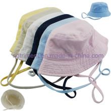 Lavado de algodón de sarga ocio pesca cubo sombrero tapa (TMBH9459-1)