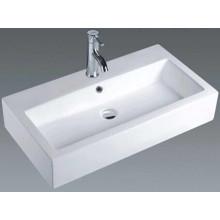 Lavabo rectangular de cerámica del cuarto de baño del estilo europeo (7180)