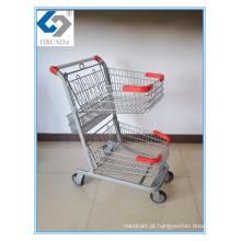 Carrinho de compras de mão de três cestas