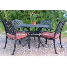 Garten Metall im Freien speisen Cast Aluminium Gartenmöbel Set